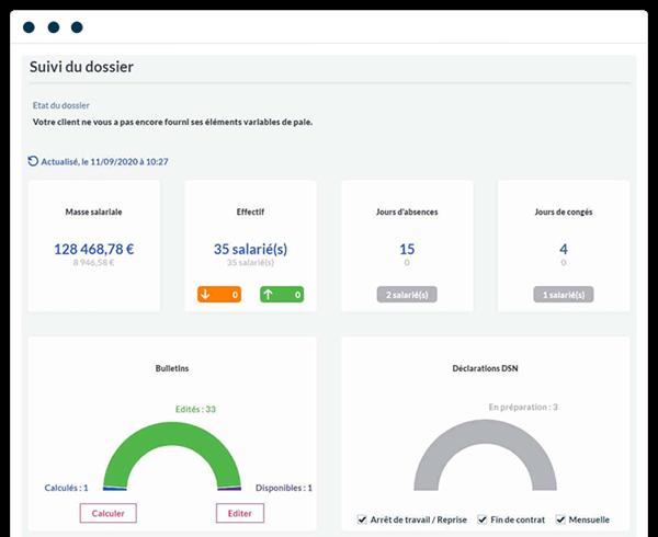 capture d'écran Sage Business Cloud PAie